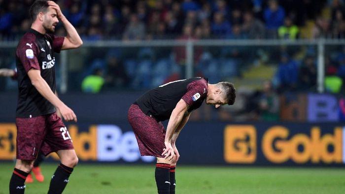AC Milan dikalahkan Sampdoria 0-1. (Foto: Jennifer Lorenzini/Reuters)