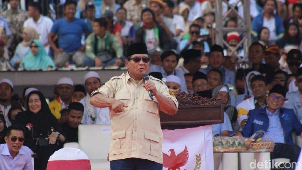 Kemeriahan Kampanye Akbar Prabowo-Sandi di Sidoarjo