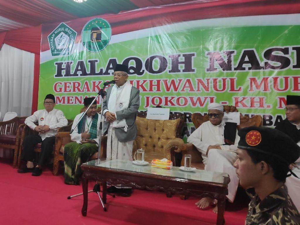 Datangi Ponpes Nurul Ibad, Maruf Amin Ingatkan Pilpres Bukan Perang