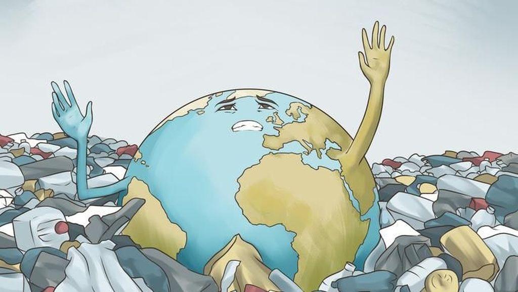 Ilustrasi Menohok Tampilkan Kelamnya Dunia Jaman Now