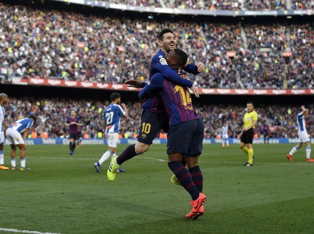 Sinar Messi di Derby Catalunya