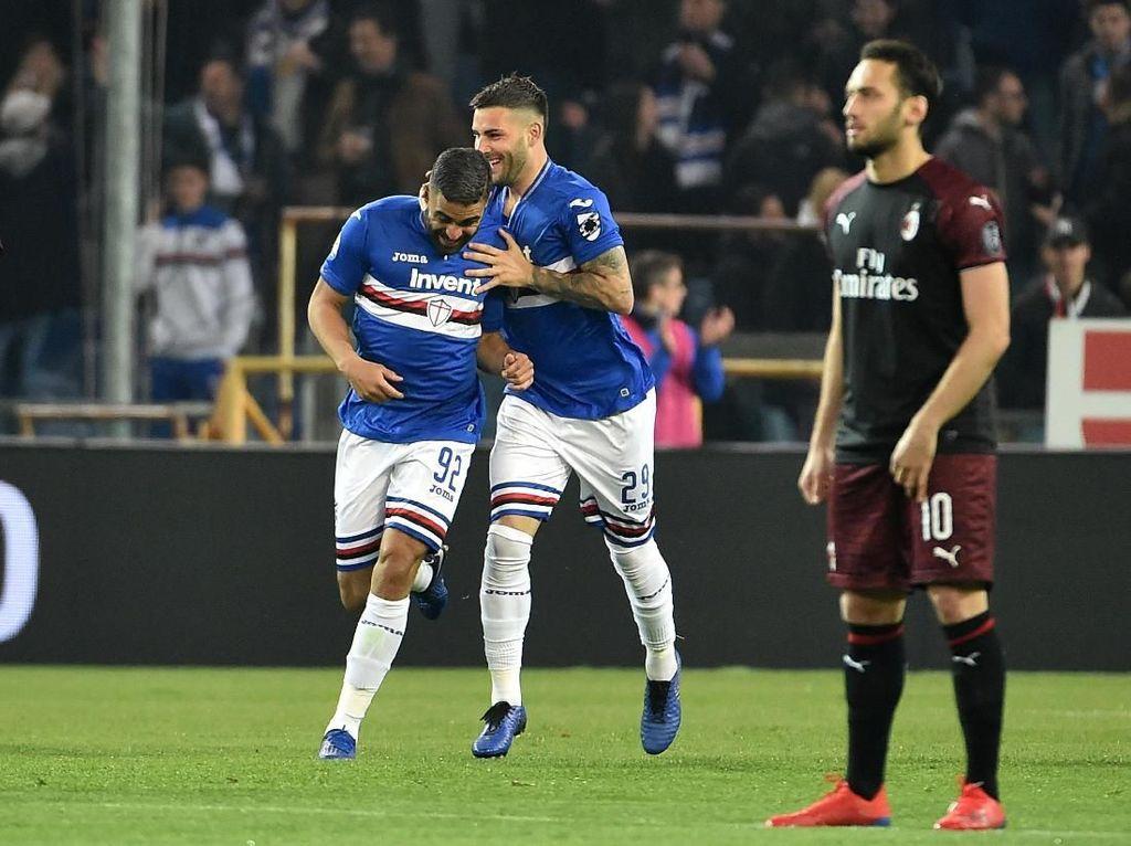 Hasil Liga Italia: Donnarumma Blunder, Milan Kalah dari Sampdoria