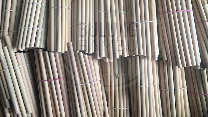 Sedotan bambu. Foto: bulungbambu