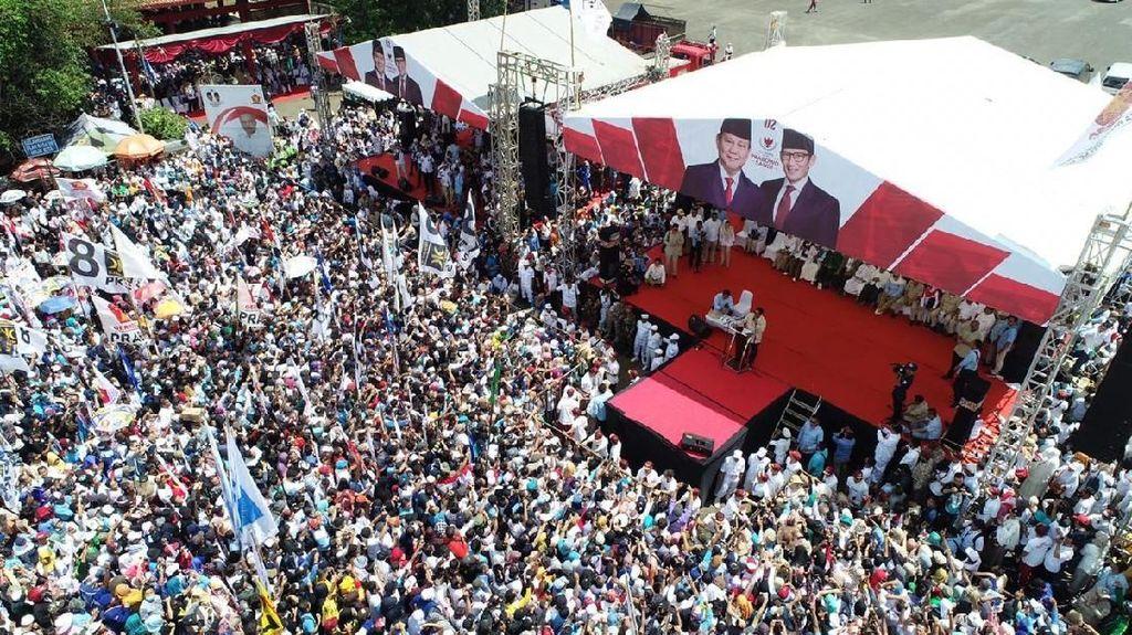Penampakan Massa Kampanye Prabowo di Purwokerto
