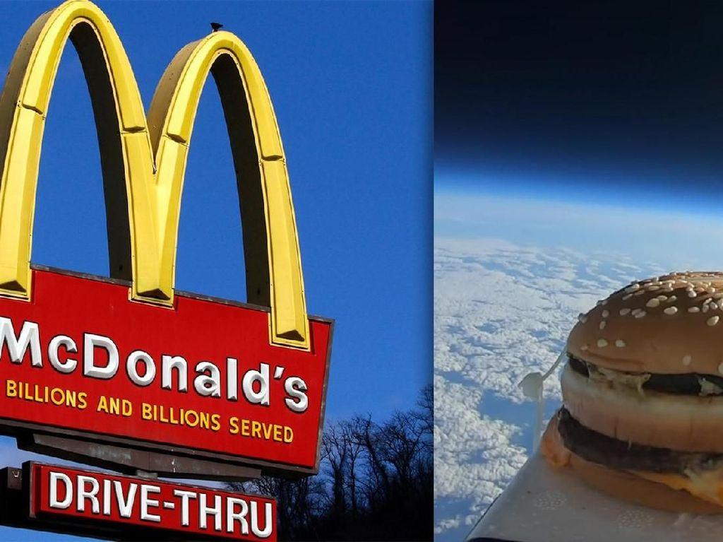 Kirim Burger ke Luar Angkasa, Pria Ini Rekam Perjalanan Burgernya