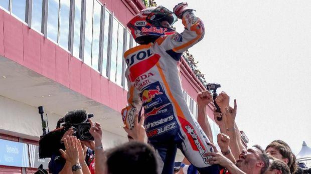 Marquez Pakai Helm Spesial di MotoGP Amerika Serikat
