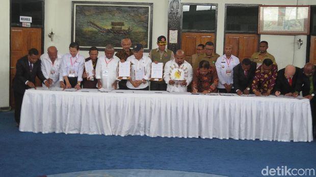 Presiden Joko Widodo (Jokowi) melakukan kunjungan kerja ke Sentani dan Jayapura, Papua, Senin (1/4/2019)