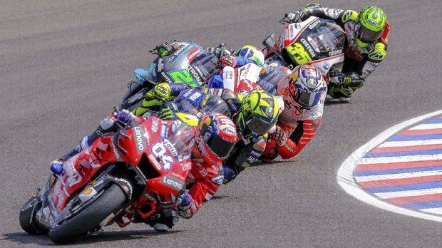 Andrea Dovizioso saat ini memimpin klasemen sementara MotoGP 2019. (