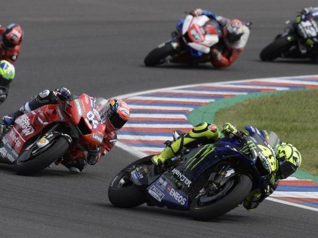Jurus Rossi Bisa Salip Dovizioso di Lap Terakhir MotoGP Argentina