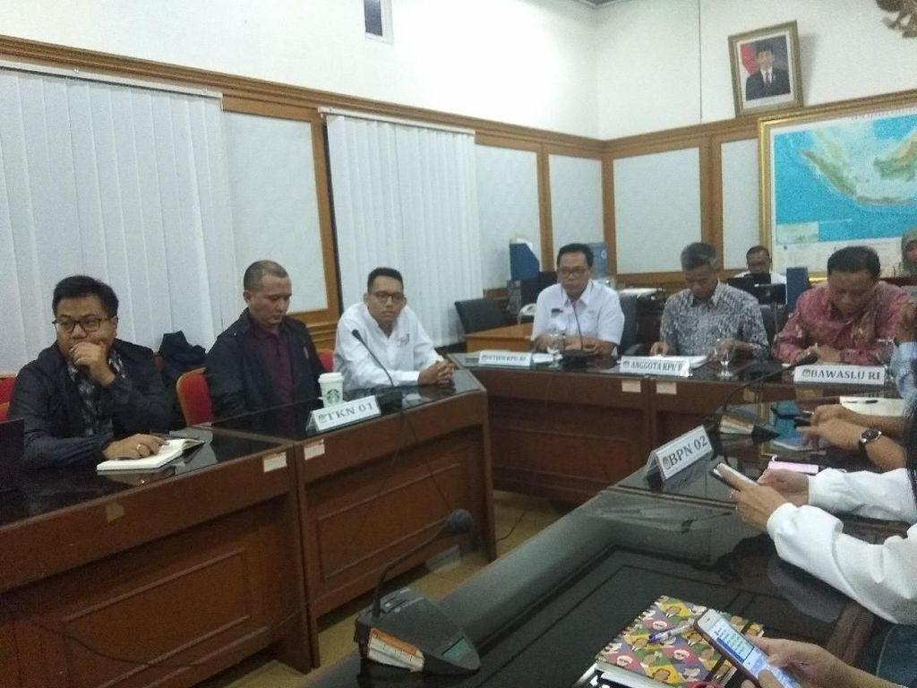 KPU Gelar Rapat Evaluasi Debat Keempat, Timses Jokowi-Prabowo Hadir
