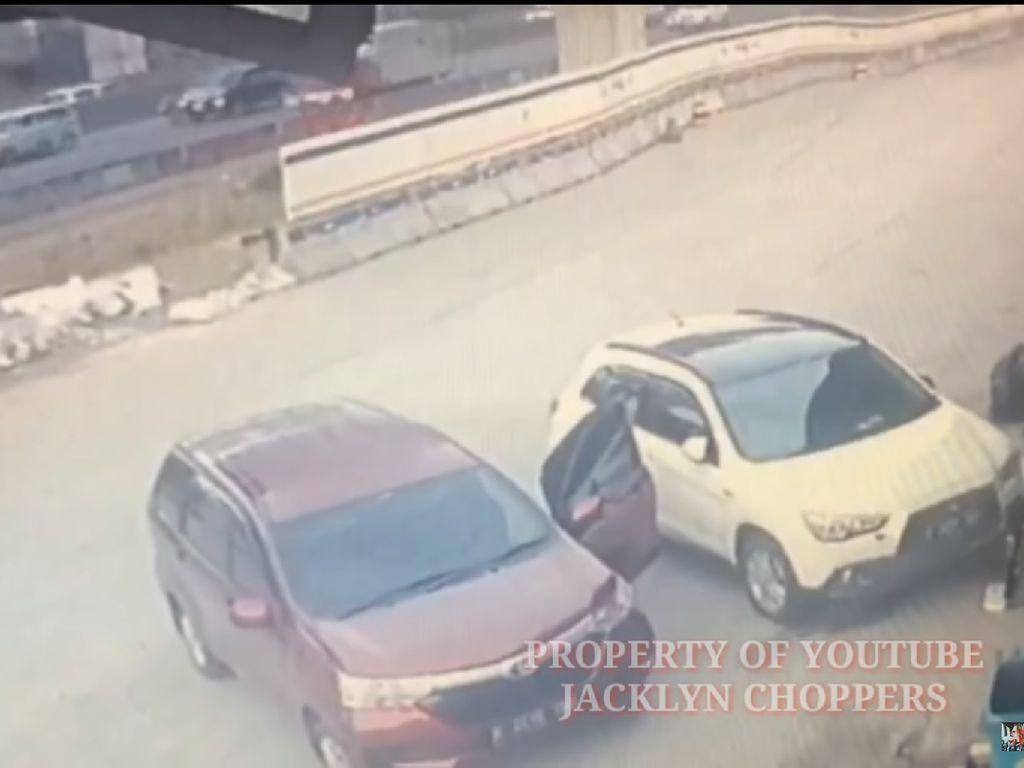 Pencurian Modus Pecah Kaca di Rest Area Km 39 Cikampek Terekam CCTV