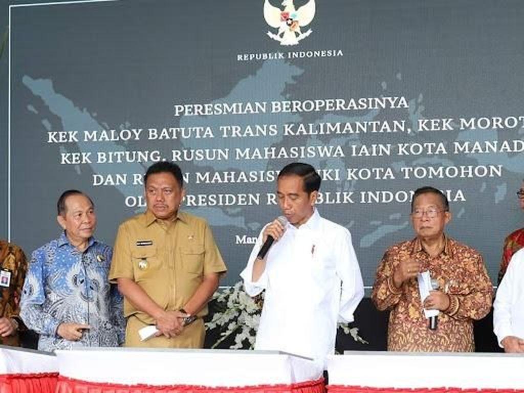 Bareng Gubernur Olly, Jokowi Resmikan Operasi KEK Bitung