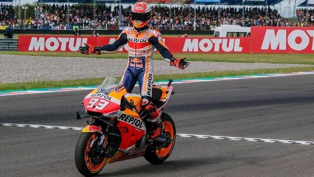 Marc Marquez menang di MotoGP Argentina 2019 dengan keunggulan signifikan.