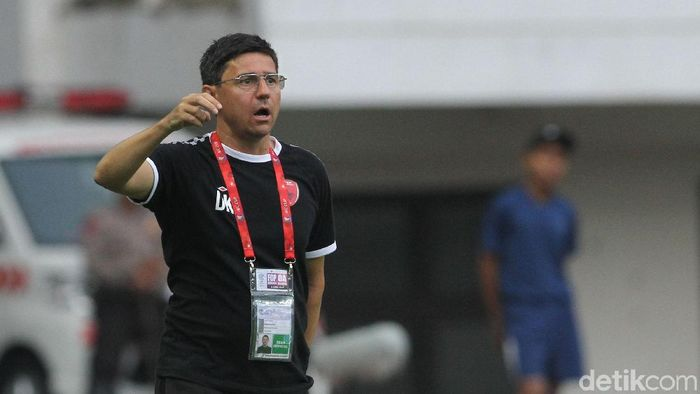 Darije Kalezic, pelatih PSM Makassar, puji penampilan sip Ferdinand Sinaga. (Rifkianto Nugroho/detikSport)