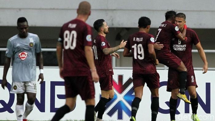 PSM Makassar saat main di Stadion Pakansari Bogor (Rifkianto Nugroho/detikSport)