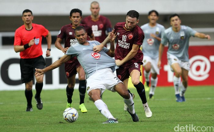 Pertandingan ketiga Grup H Piala AFC 2019 antara PSM Makassar dan Kaya FC Iloilo dihelat di Stadion Pakansari, Cibinong, Kab. Bogor, Selasa (2/4/2019).