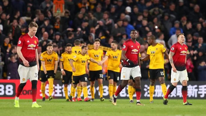 Manchester United tumbang di markas Wolverhampton Wanderers dalam lanjutan Liga Inggris (Foto: Catherine Ivill/Getty Images)