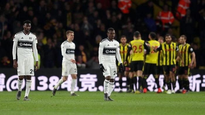 Fulham dipastikan terdegradasi dari Premier League setelah dikalahkan Watford (Foto: Richard Heathcote/Getty Images)