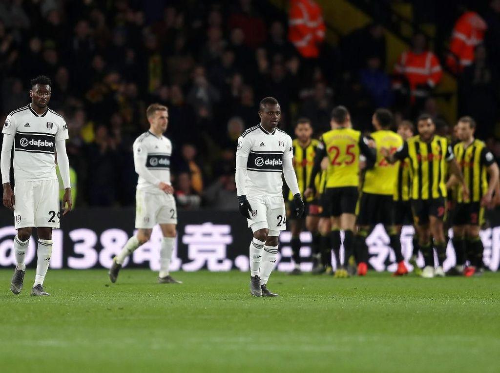 Hasil Liga Inggris: Dikalahkan Watford, Fulham Dipastikan Degradasi