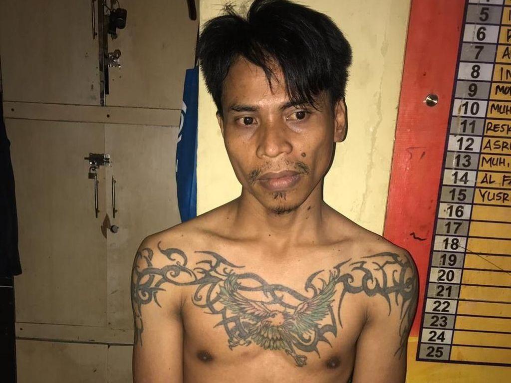Aniaya Anak di Makassar, Pria Bertato Elang Ditangkap