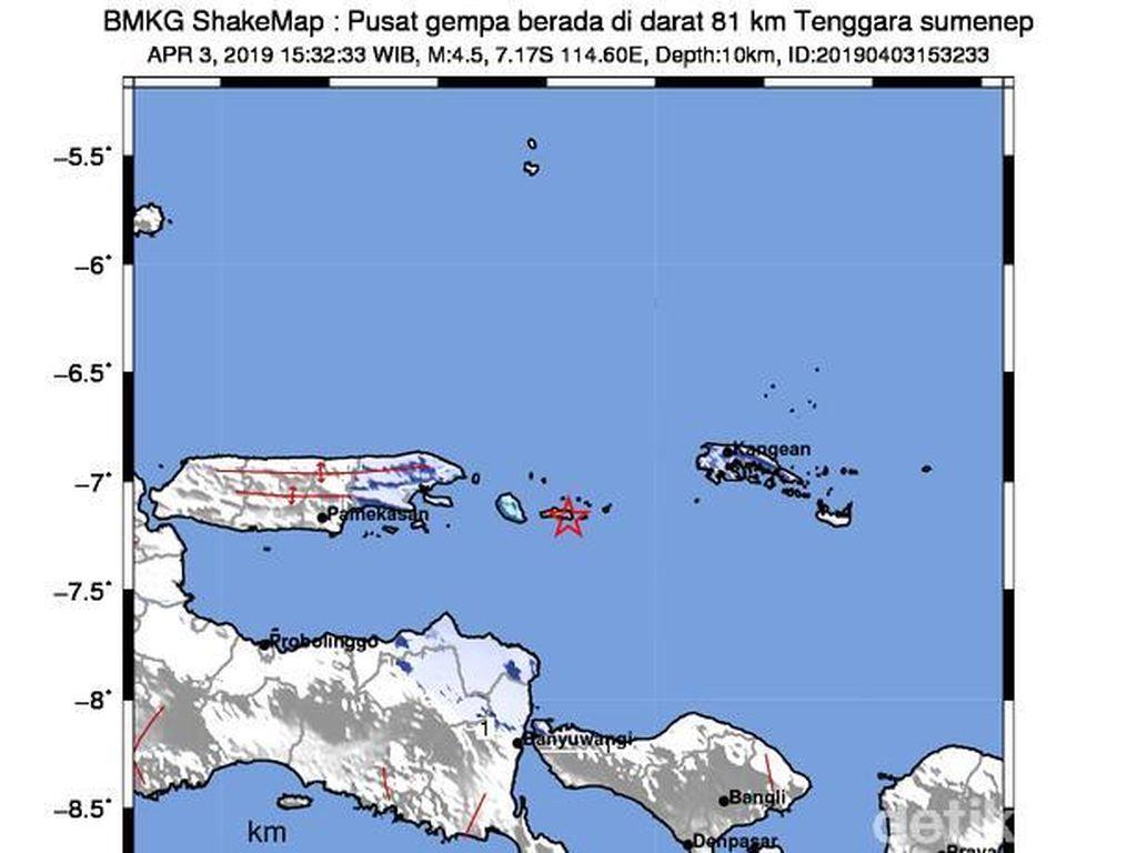 14 Kali Gempa Susulan Guncang Sumenep, Ini Penyebabnya