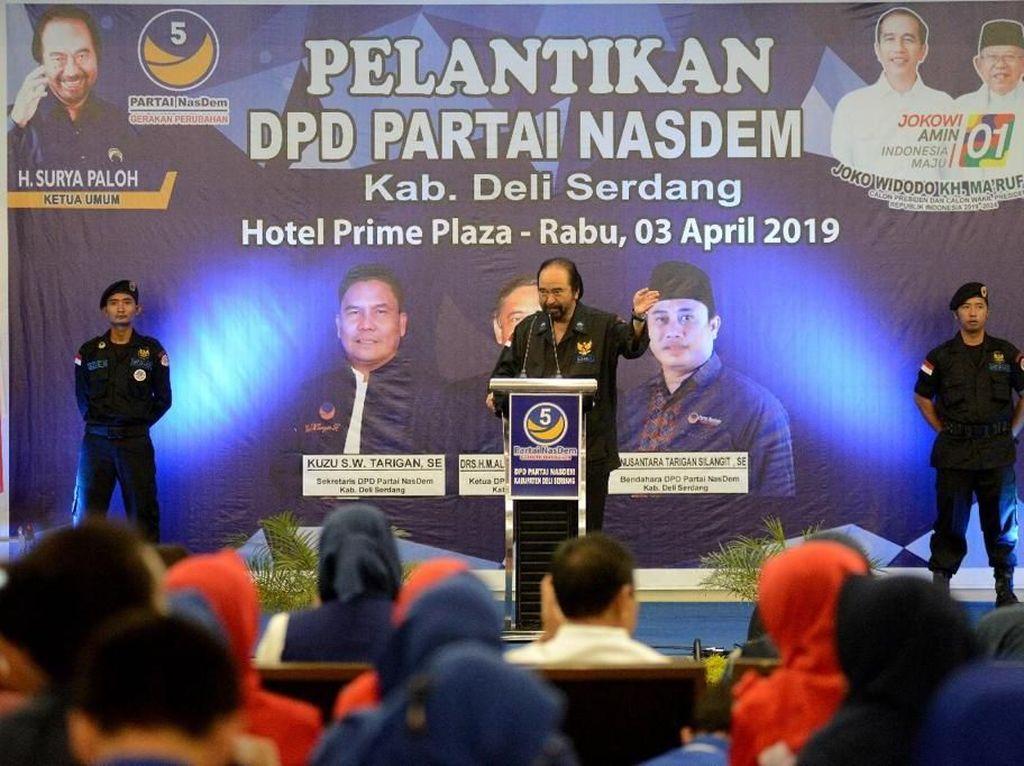 Surya Paloh Targetkan NasDem Raup 6 Kursi DPR dari Sumut