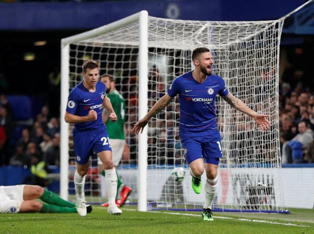 Babak I, Gol Giroud Antar Chelsea Memimpin 1-0 atas Brighton