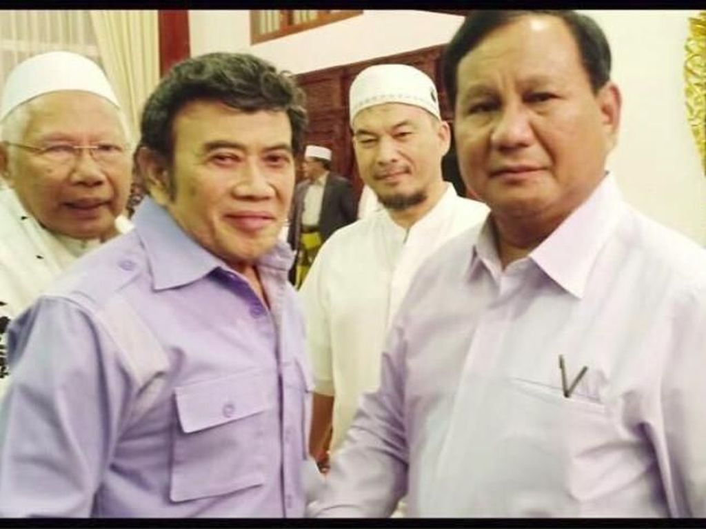 Pose Bareng Prabowo Subianto, Rhoma Irama Ajak Kampanye Damai
