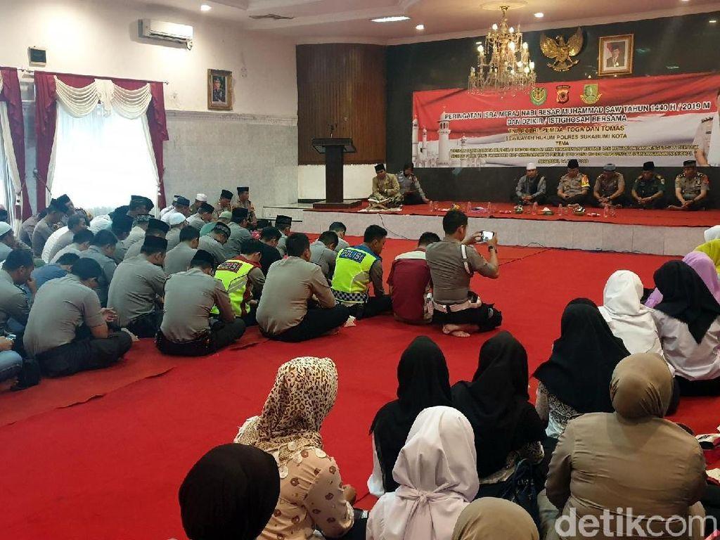 Peringati Isra Mikraj, Kapolresta Sukabumi Ingatkan Netralitas