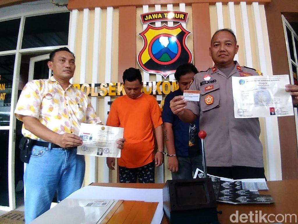 Komplotan Pembuat Ijazah, KTP dan SIM Palsu di Surabaya Diringkus