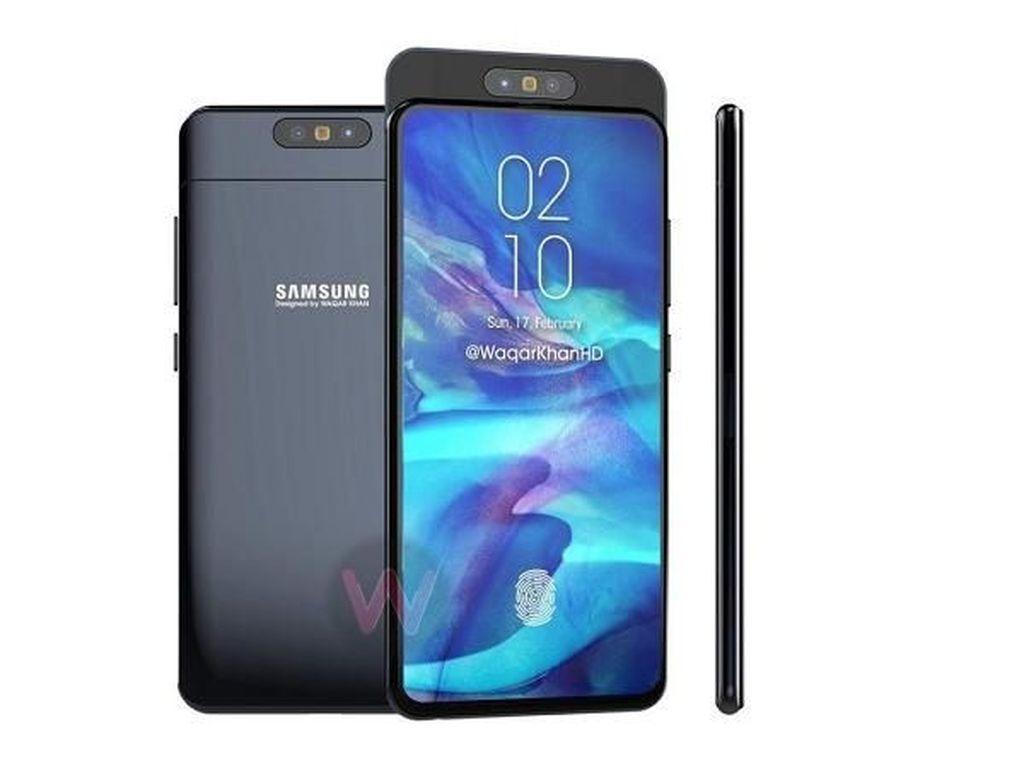Begini Tampilan Kamera Pop-up Bolak-balik Galaxy A90, Samsung?