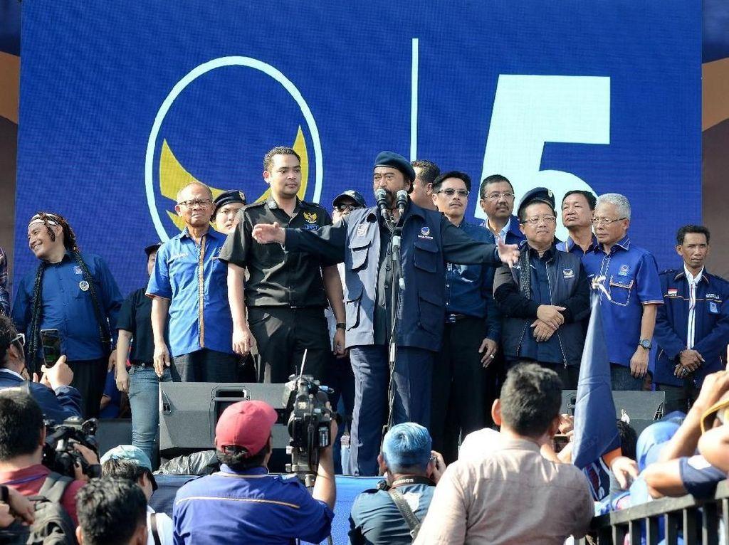 Kampanye di Medan, Surya Paloh Ajak Ciptakan Pemilu yang Kekeluargaan