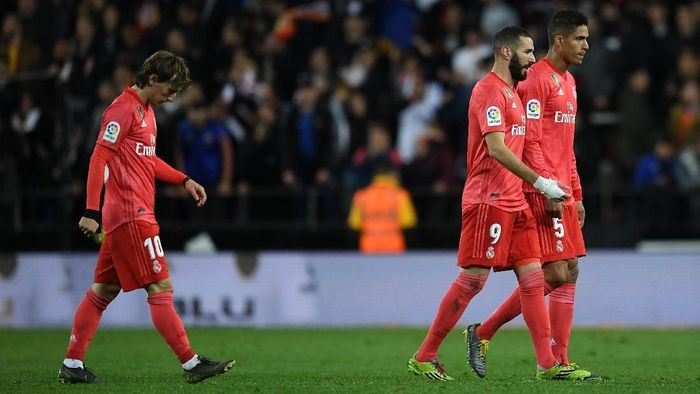 Real Madrid kalah di markas Valencia. (Foto: David Ramos/Getty Images)