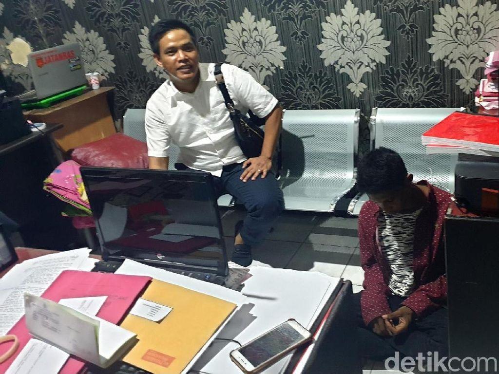 Beraksi Siang Bolong Jambret Ponsel di Sukabumi Dihajar Massa