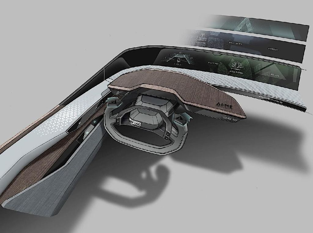 Audi Pamer Sketsa Mobil Otonom Listrik Masa Depan di Asia