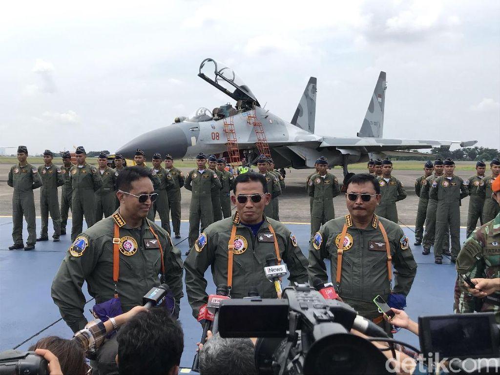 Jajal Sukhoi Su-30, KSAD dan KSAL Dapat Wing Penerbang dari KSAU