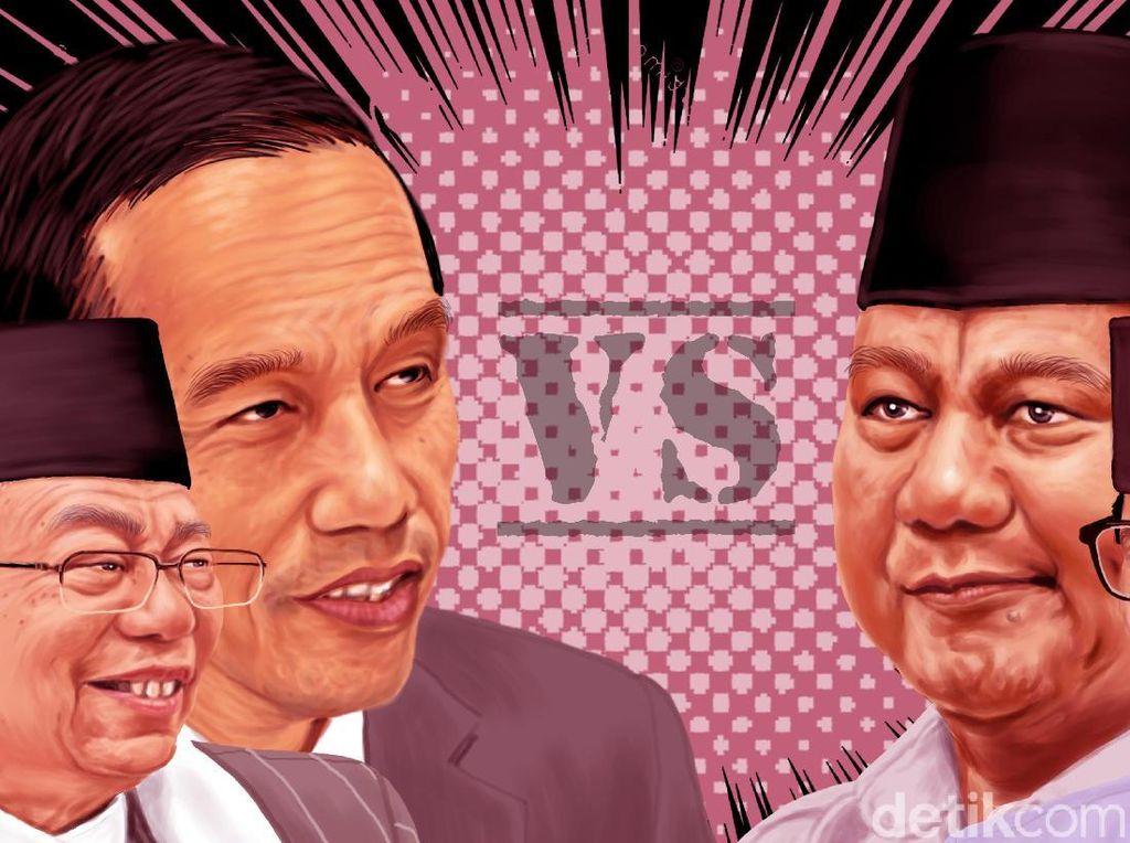 Hasil di NTB Versi Quick Count: Prabowo 75,53% Jokowi 24,47%