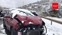 Duh.. Badai Salju Bikin Tabrakan Beruntun di Madrid