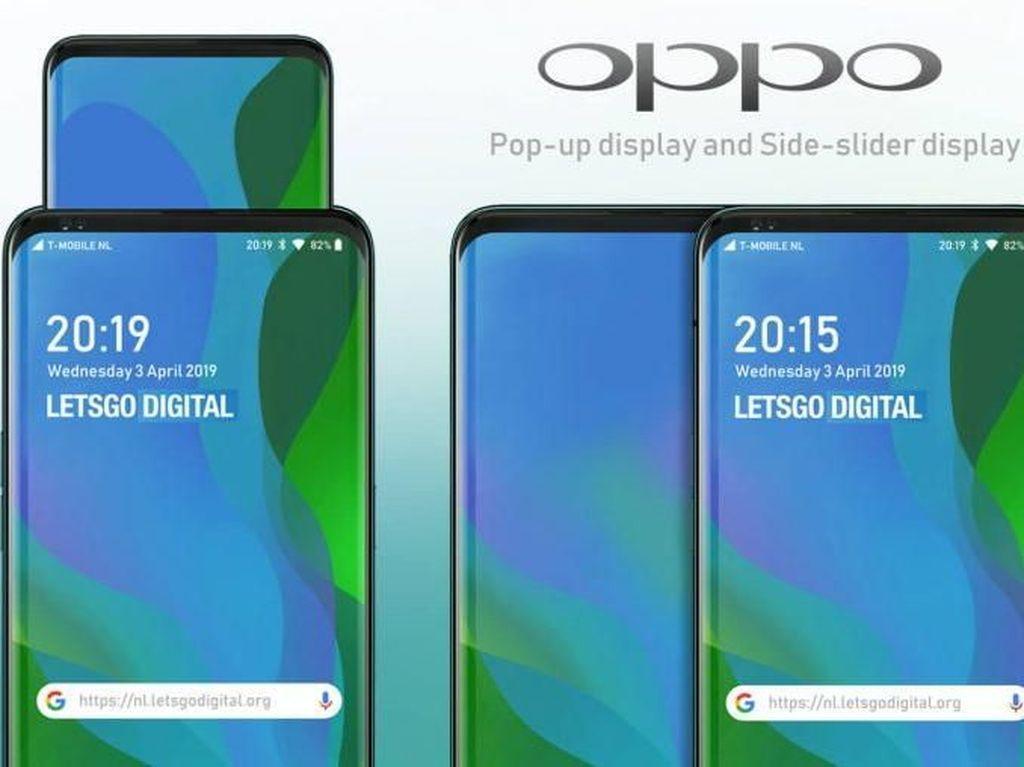 Oppo Mau Bikin Smartphone dengan Layar Kedua Pop-up?