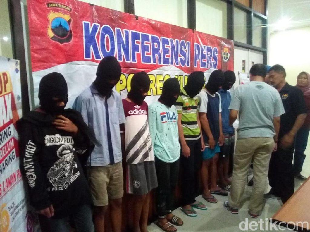 Bacok Korban Hingga Kritis, 7 Begal Remaja Diringkus Polres Kudus