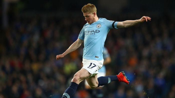 Kevin De Bruyne kala berlaga bersama Manchester City (Michael Steele/Getty Images)