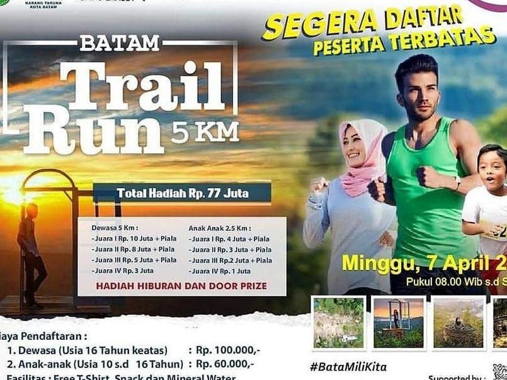 Ratusan Pelari Asing Ramaikan Batam Trail Run 5K