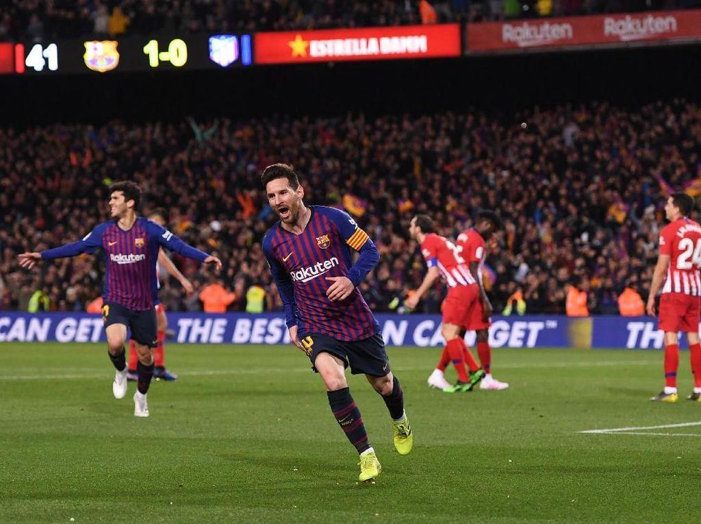 Hasil Liga Spanyol: Barcelona Tundukkan 10 Pemain Atletico 2-0