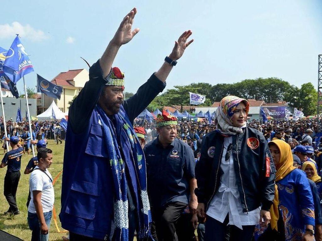 Surya Paloh:Tak Boleh Ada yang Coba-coba Ubah Pancasila, Kita Hadapi