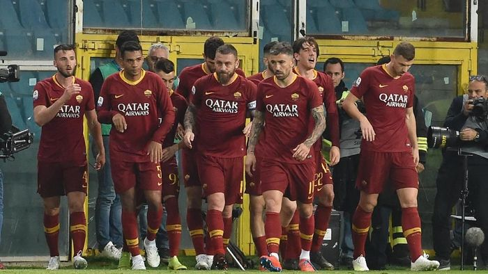 AS Roma menang di kandang Sampdoria 1-0 dalam lanjutan Liga Italia. (Foto: Paolo Rattini / Getty Images)