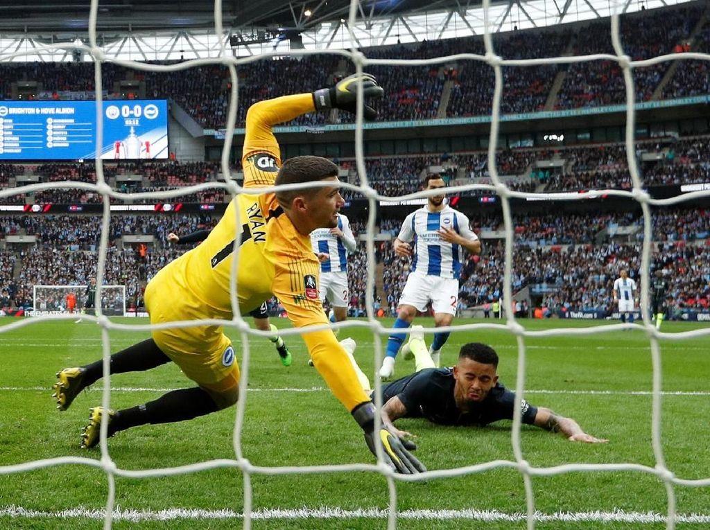 Hasil Piala FA: Manchester City ke Final Usai Atasi Brighton
