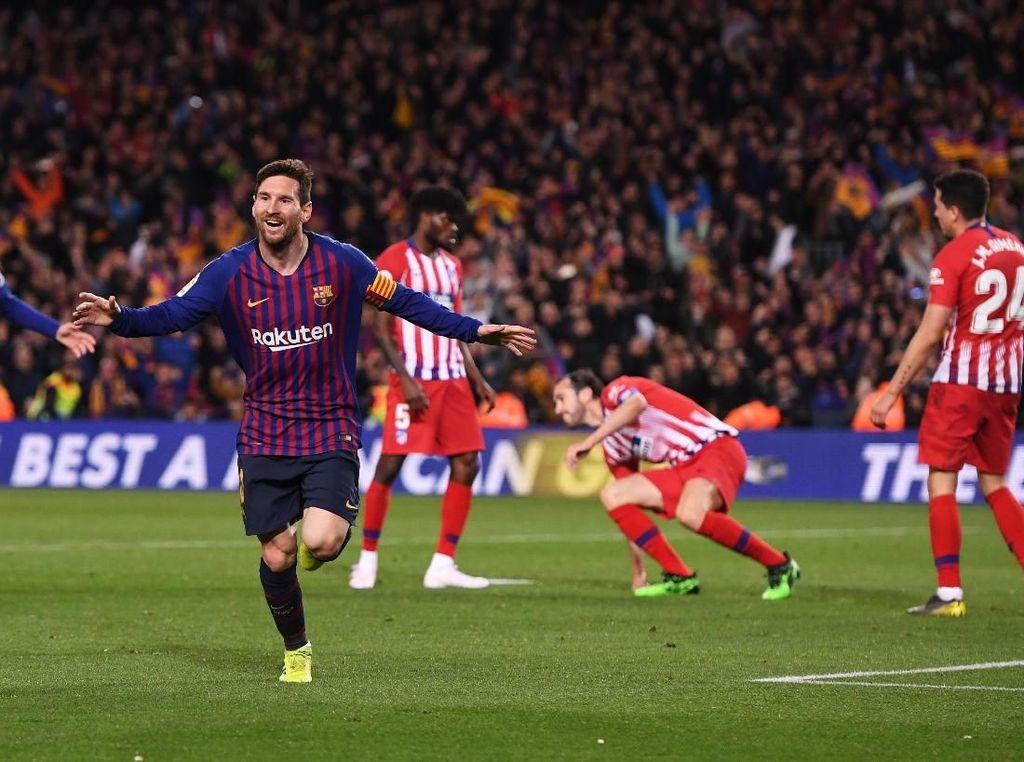 Messi Ukir Sejarah dalam Kemenangan Barca atas Atletico