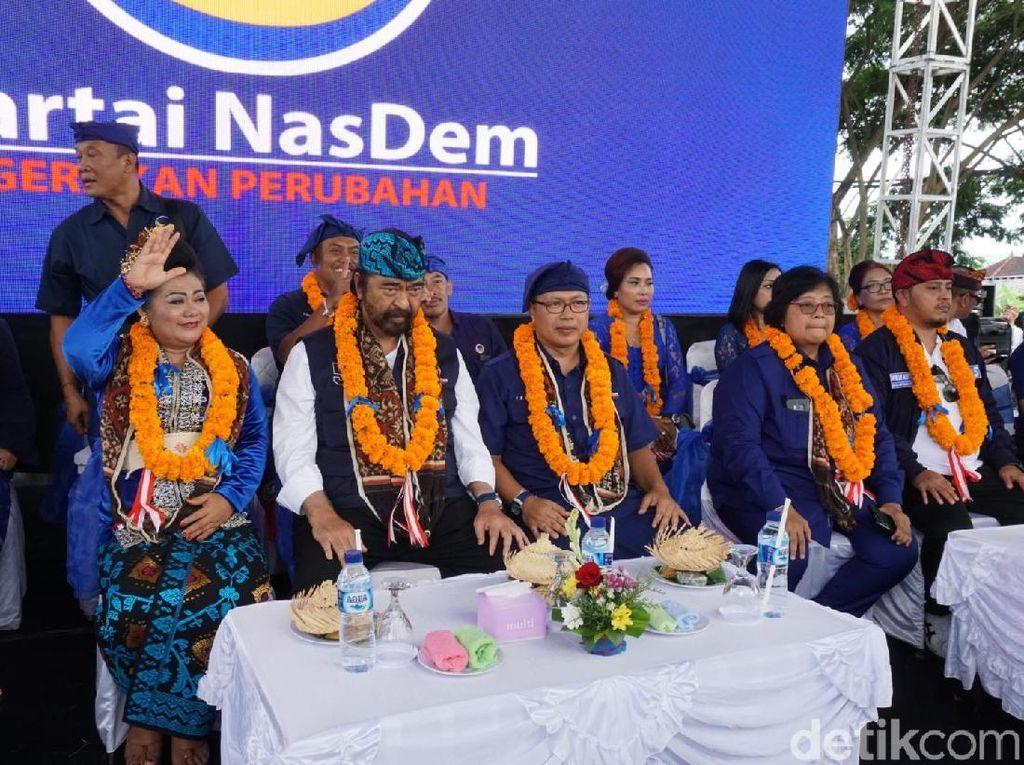 Surya Paloh dan Menteri Siti Kampanye untuk Jokowi di Bali
