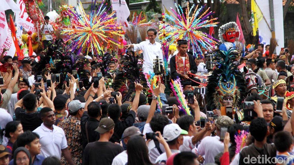 Potret Kegembiraan Kampanye Jokowi-Maruf di Tangerang