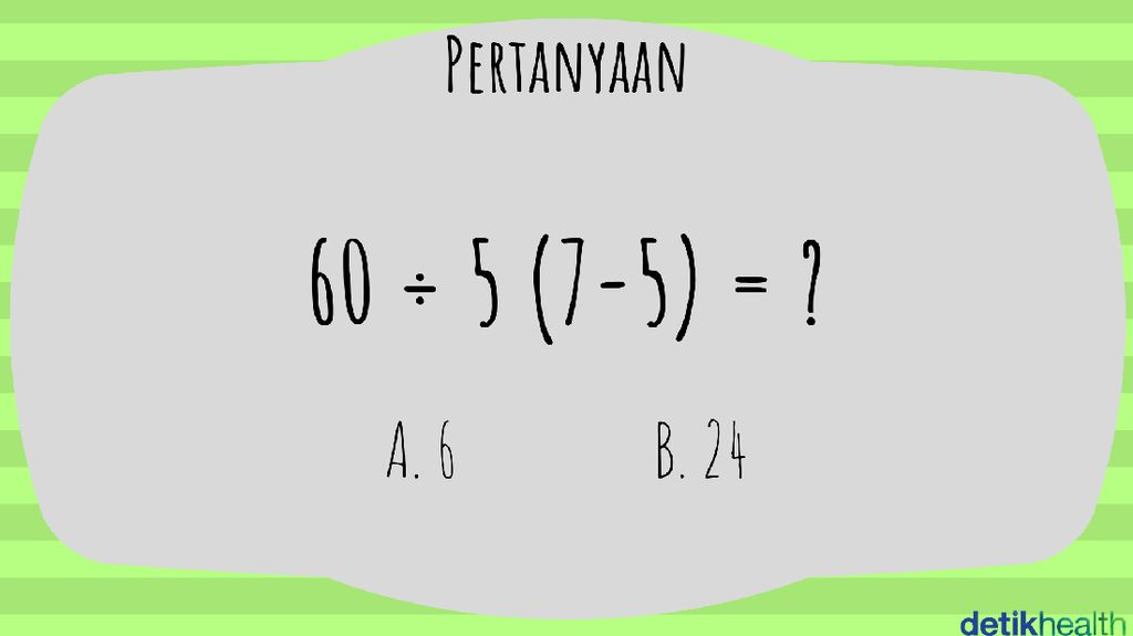 Yakin Bisa Selesaikan Teka-teki Matematika Sekolah Dasar Ini?